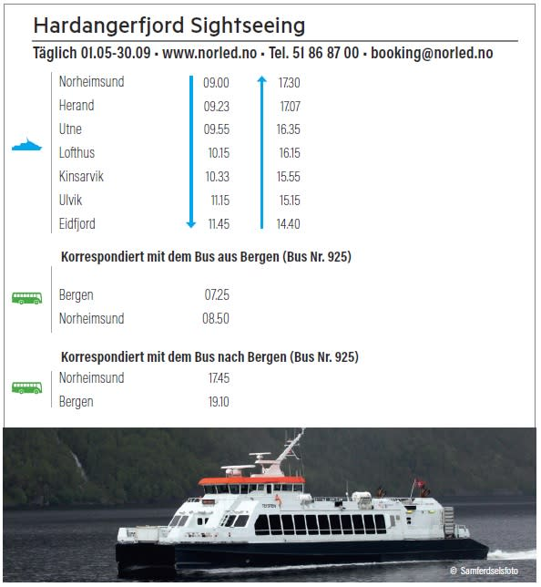 Hardangerfjord Sightseeing 2018 ty