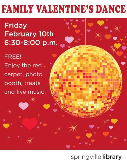 Dance at the Springville Library for Valentine's Day