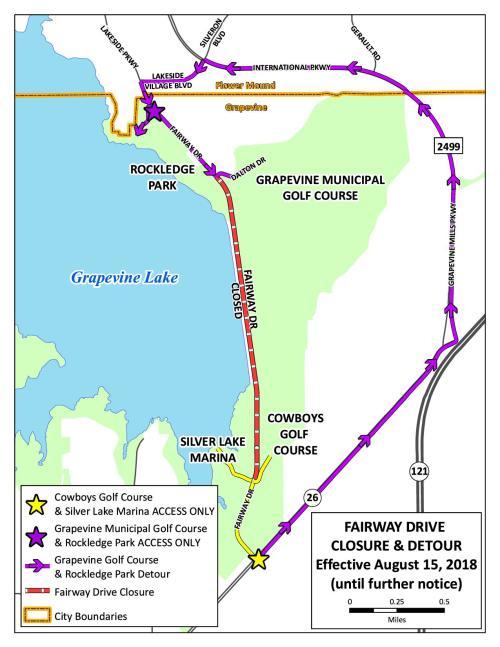 Fairway Drive closure 2018