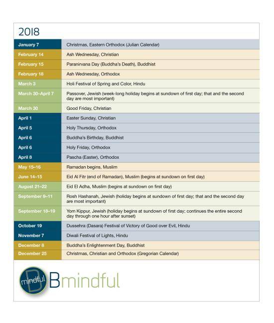 BMindful 2018