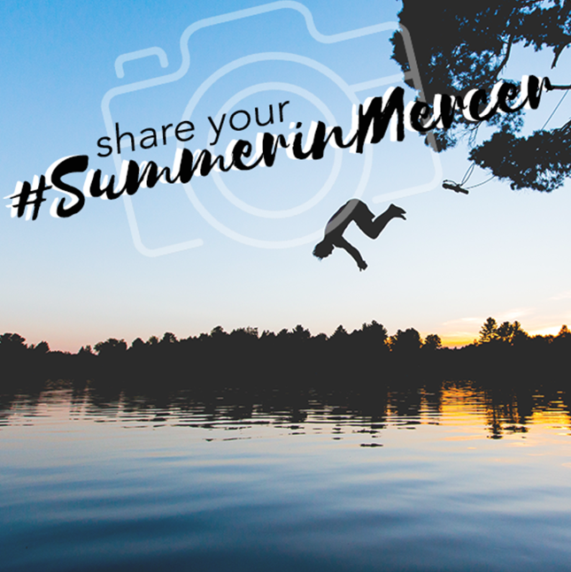 Jumping off swing into water in Princeton NJ for #SummerinMercer