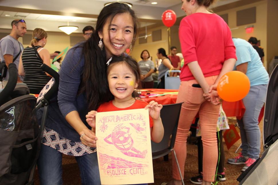 Mother and Daughter attend event at Asian American Resource Center