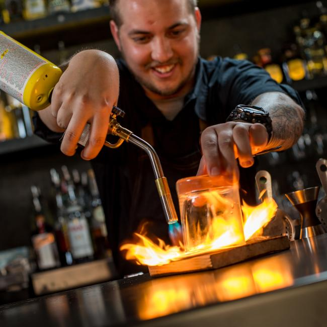 Bartender Making Old Fashioned