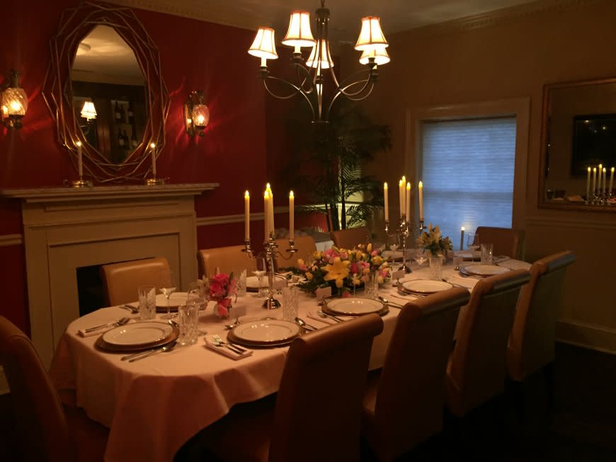 Elegant private dining at Magnolias on King's The Nest