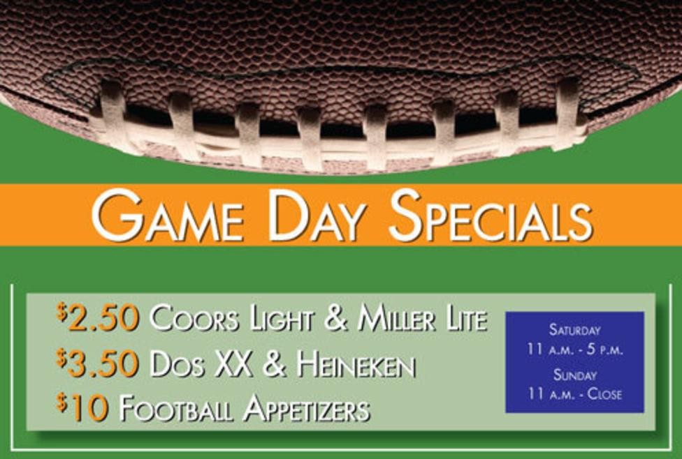 Game Day Specials