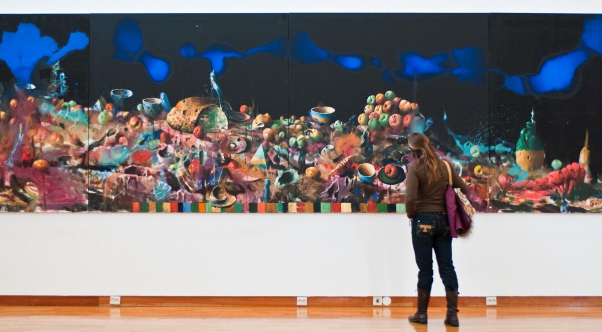 Woman at Lillehammer Art Museum