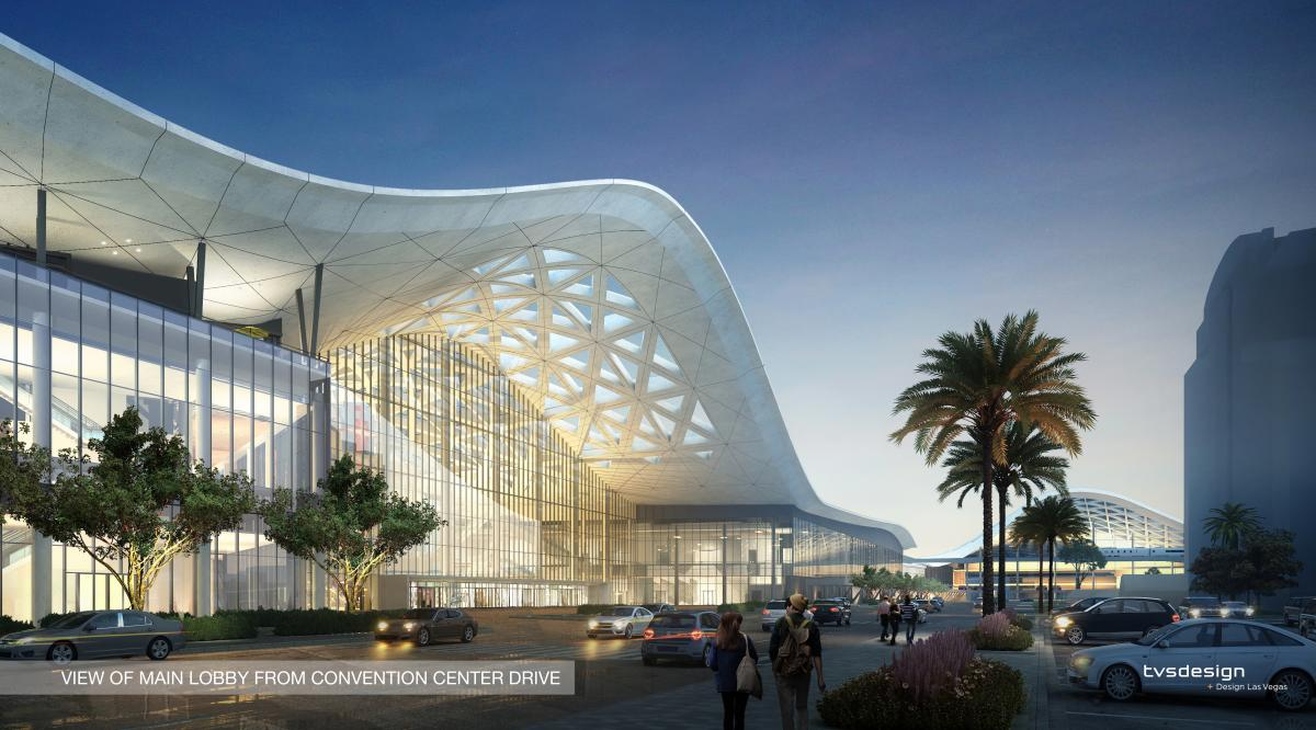 The brand-new West Hall addition to the Las Vegas Convention Center has large windows to let natural light in.