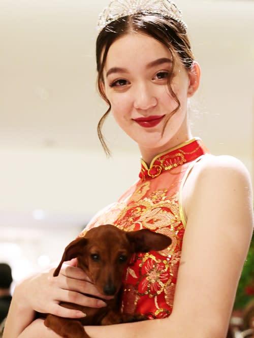 South Coast Plaza Lunar New Year Dog Model 2