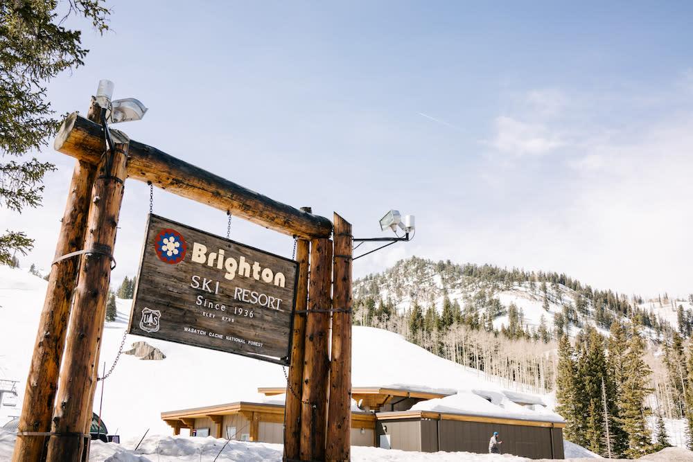 Brighton Ski Resort sign