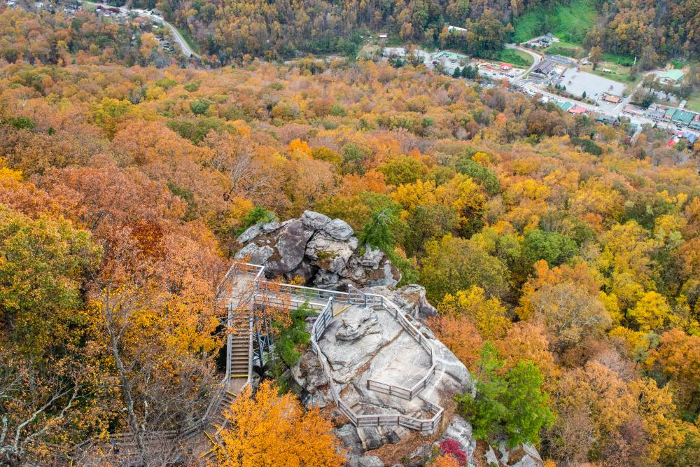 Chimney Rock State Park Fall Color 2018