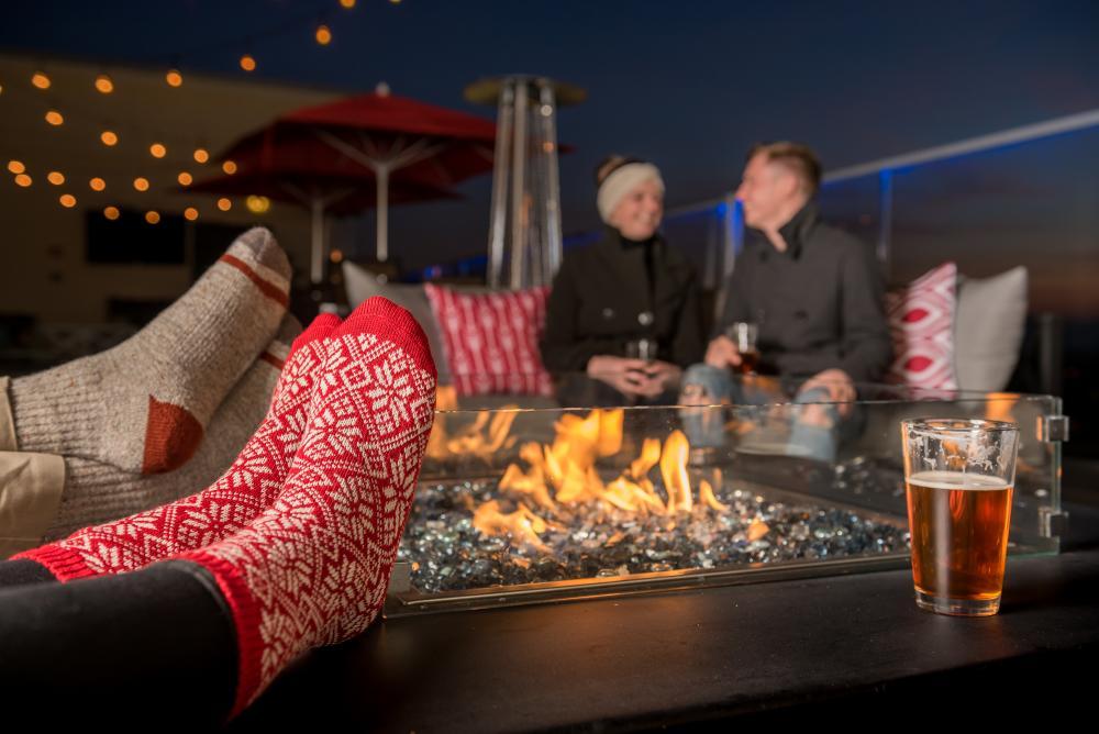Cozy Fire Pit at Pillar Rooftop Bar