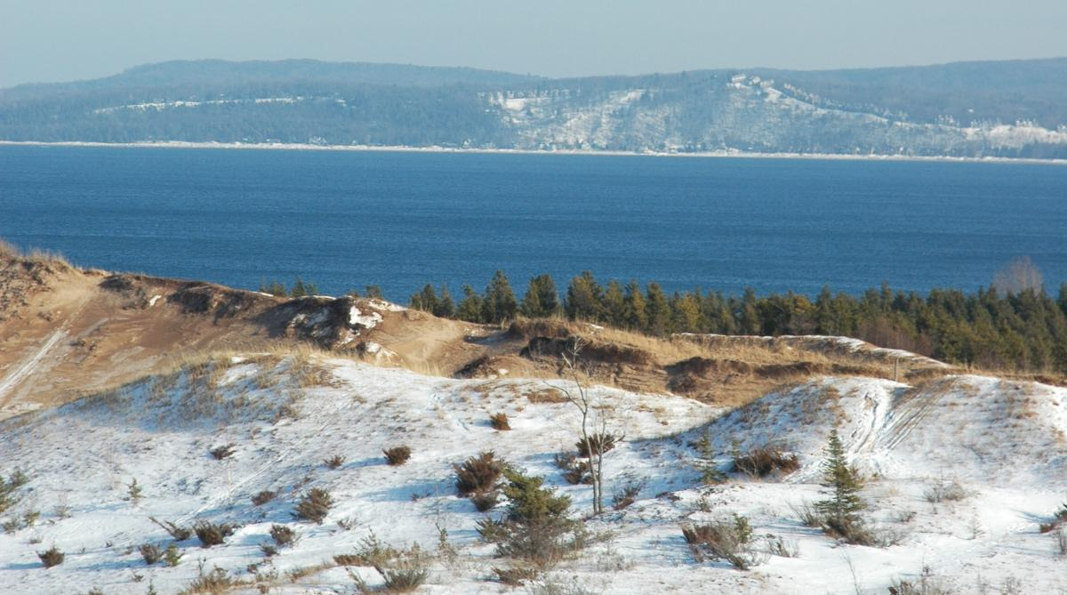 Sleeping Bear Dunes in the Winter