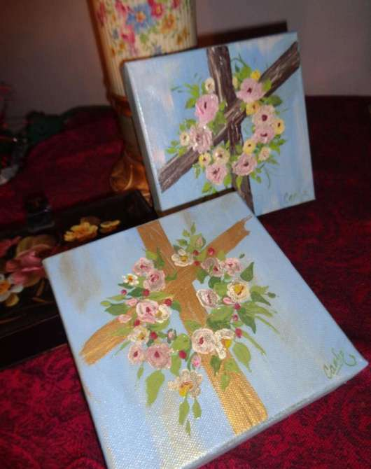 Cross with Flowers Paint Class
