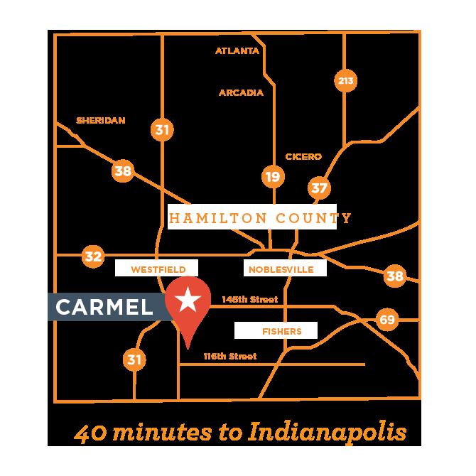 Carmel Indiana Map