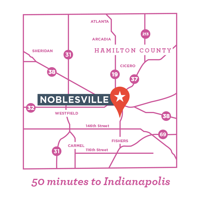 Noblesville Indiana Map