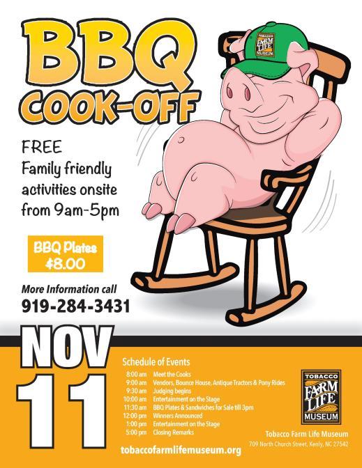 Tobacco Farm Life BBQ Flyer