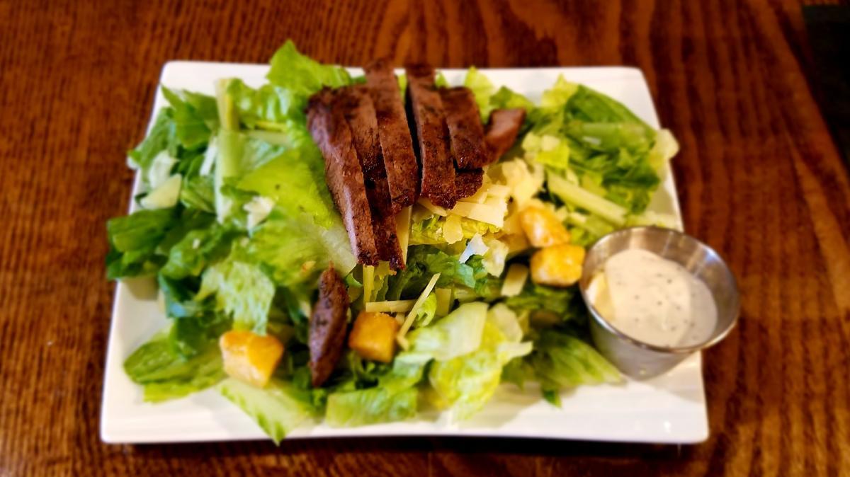Caesar Salad with Steak at 21 North