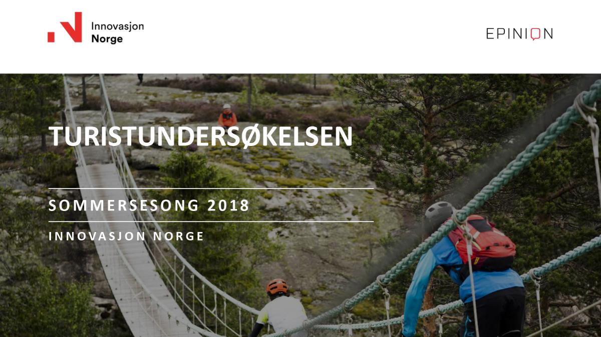 Turistundersøkelsen sommer 2018