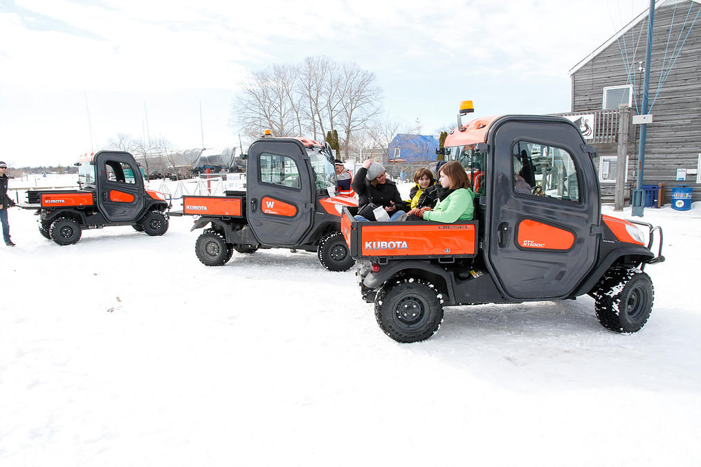 Kubota ride at Gimli Ice Festival