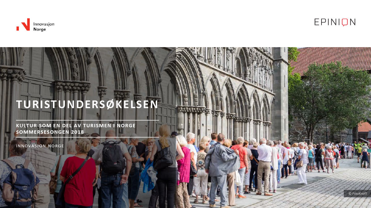 Kulturrapport Turistundersøkelsen 2018