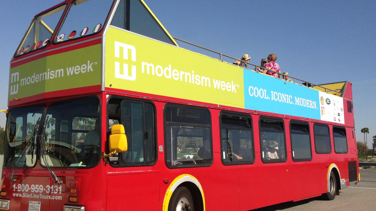 Modernism Double Decker Bus