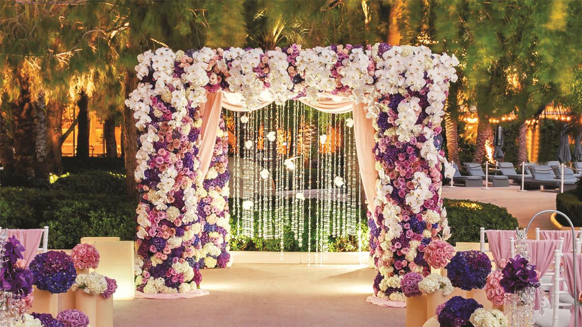 Aria Pool Wedding