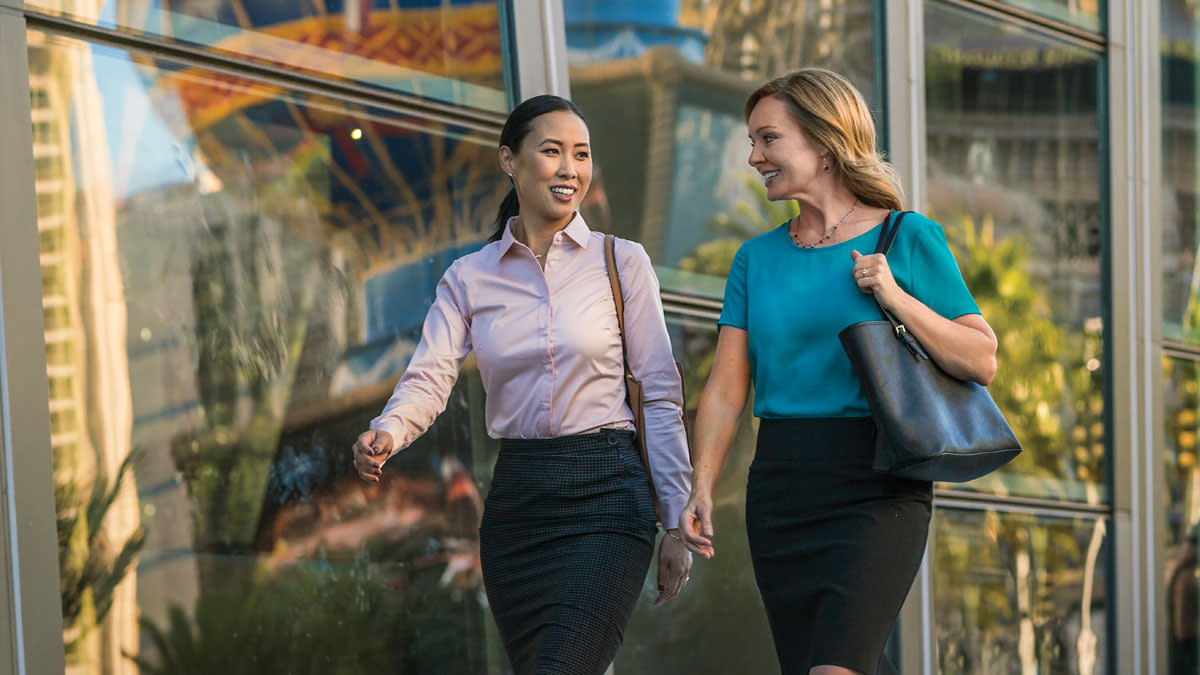 Business Women Walking on the Strip