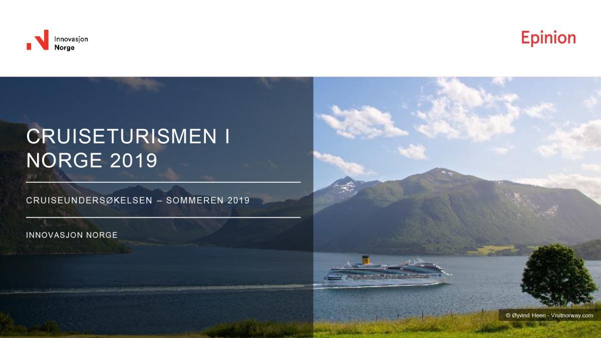 Cruiseturismen i Norge 2019