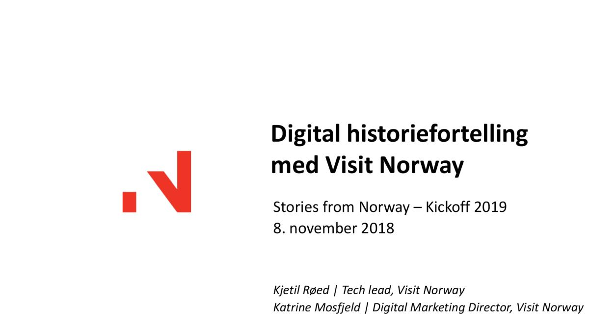 Digital historiefortelling med Visit Norway