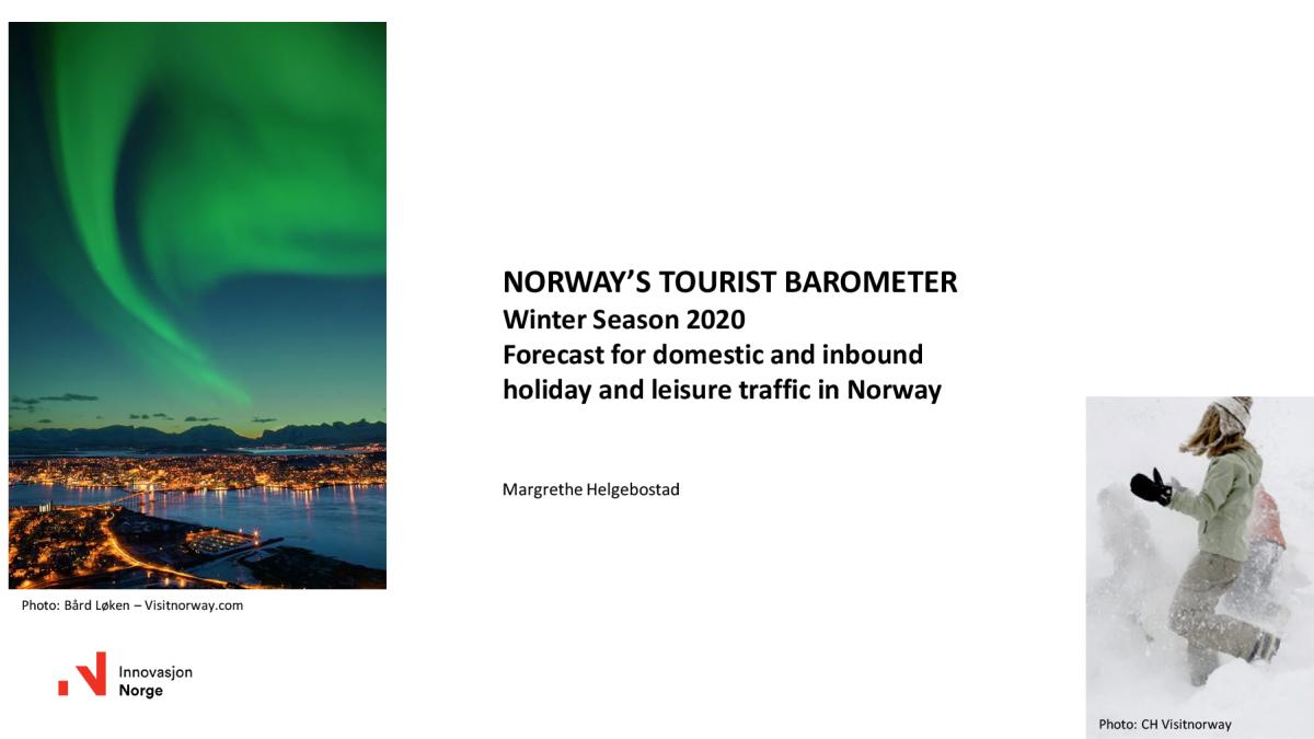 Forecast for domestic and inbound holiday and leisure traffic in Norway
