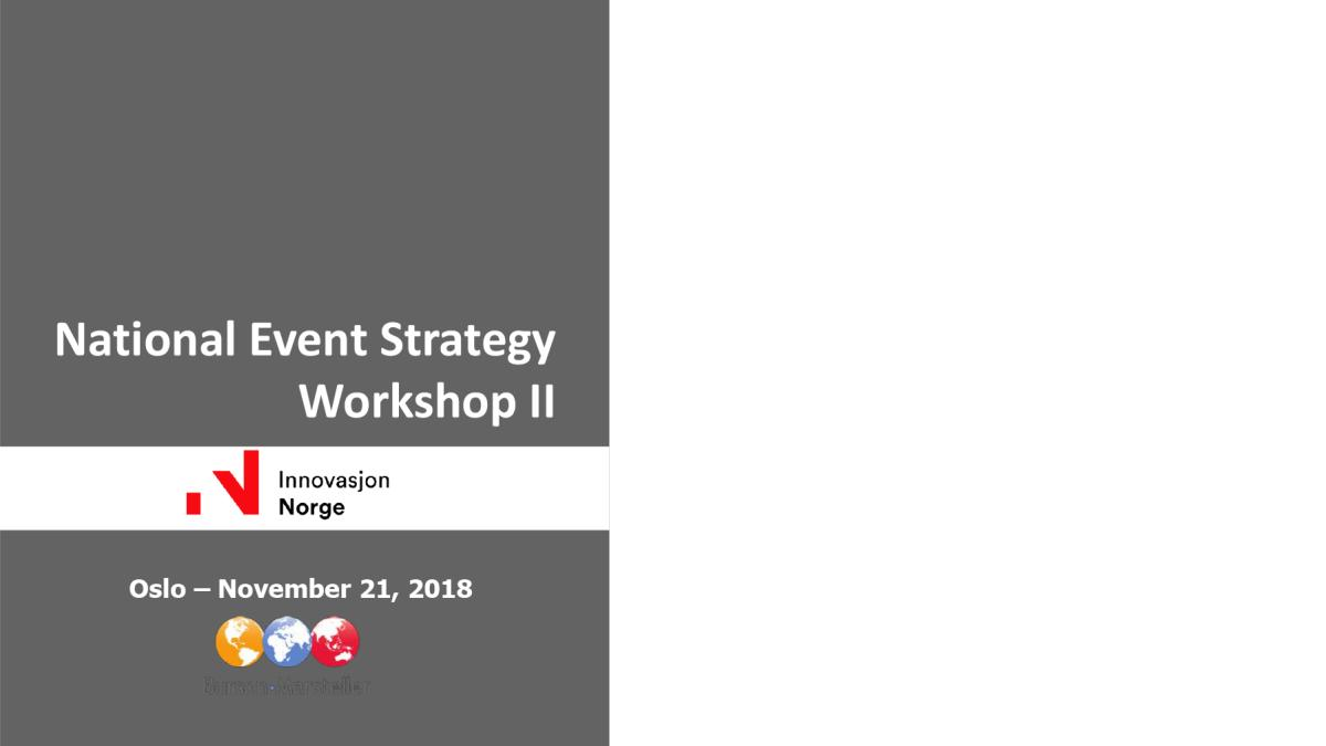 National Event Strategy Workshop II