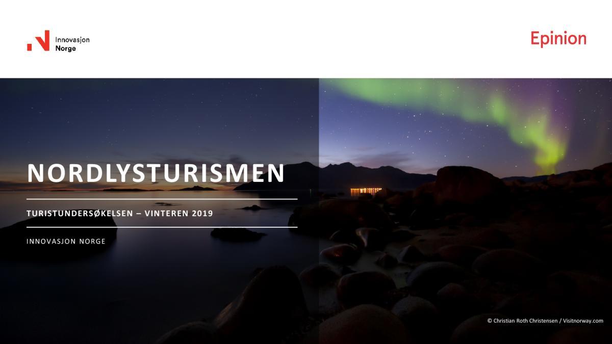 turistundersøkelsen 2019 nordlysturisme
