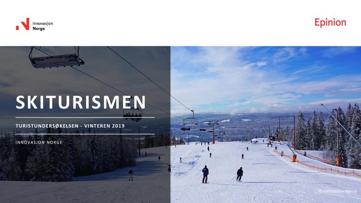 turistundersøkelsen 2019 skiturisme