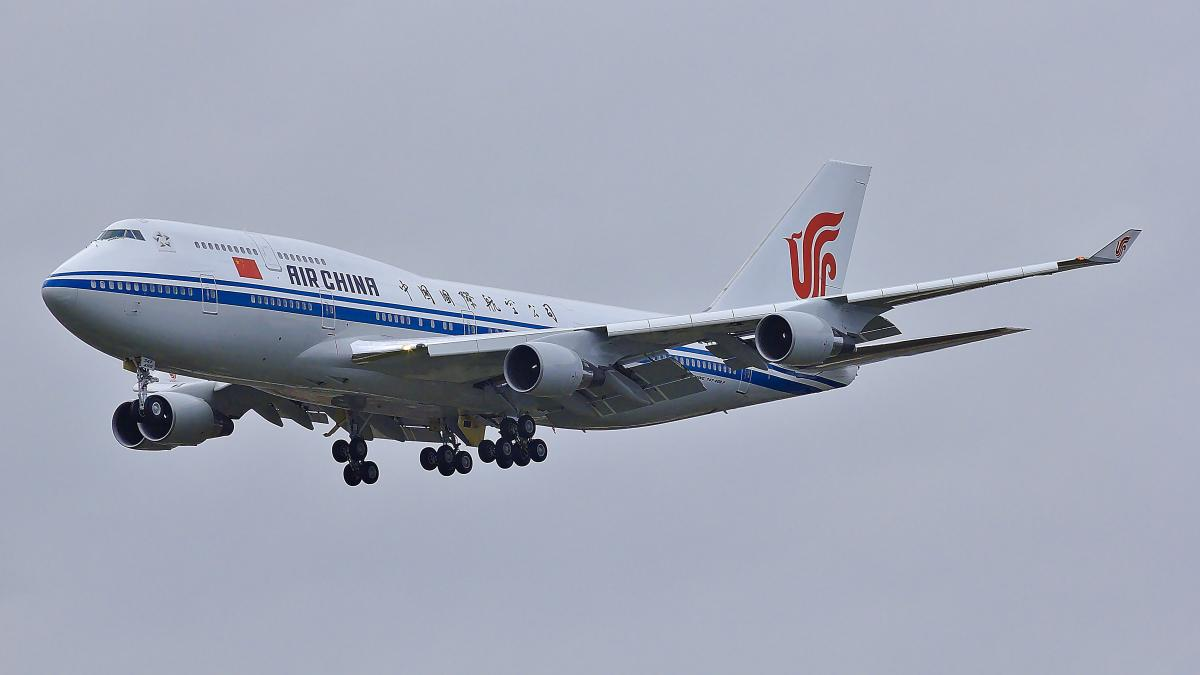 Air China - flymaskin i luften