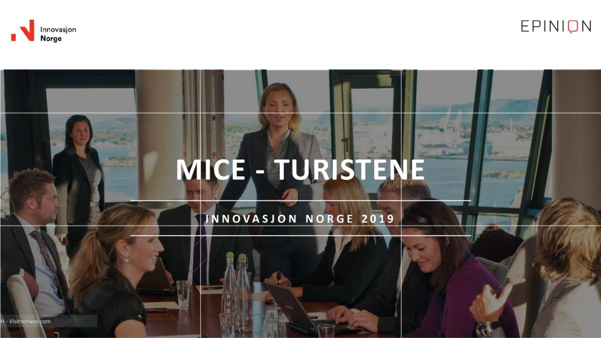 Turistundersøkelsen MICE 2019