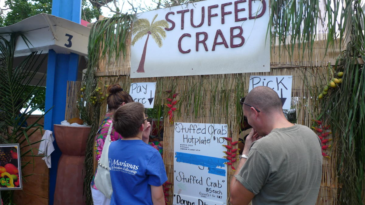 Stuffed Crab menu