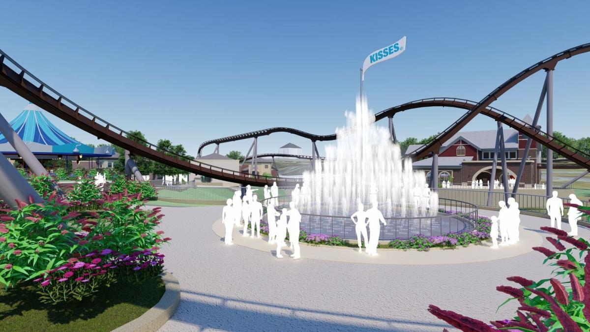 Chocolatetown Fountain Rendering 2020
