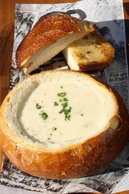 Fish Camp's Clam Chowder is a classic fall soup!
