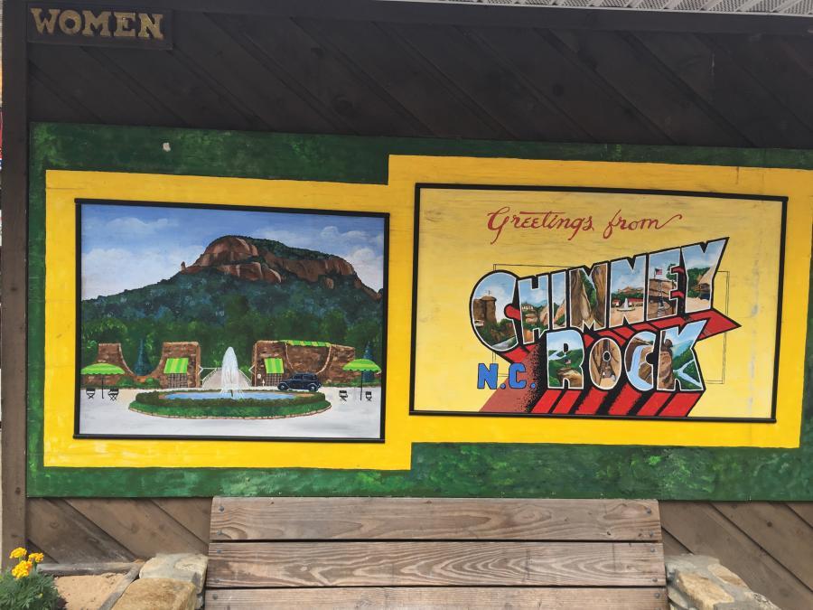 Chimney Rock Vintage Postcard Mural