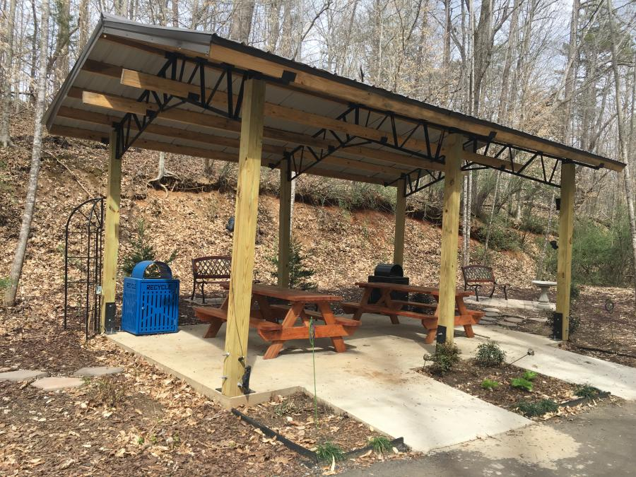 Picnic Shelter on the Purple Martin Greenway