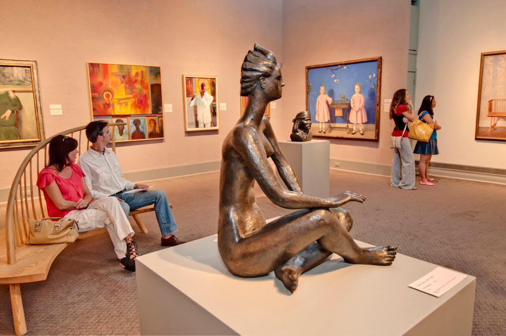 Inside the James A. Michener Art Museum
