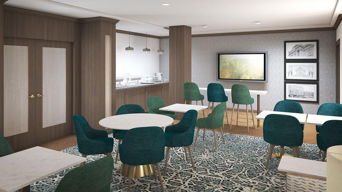 The Towers at the Kahler concierge lounge rendering - Rochester, MN