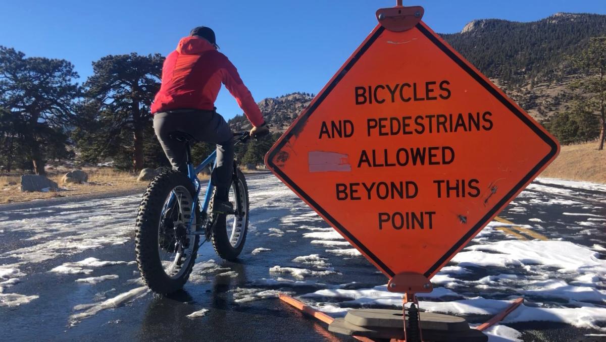 Biking past Beaver Meadows VC