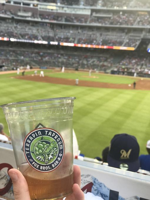 Terrapin beer at the Braves Game.