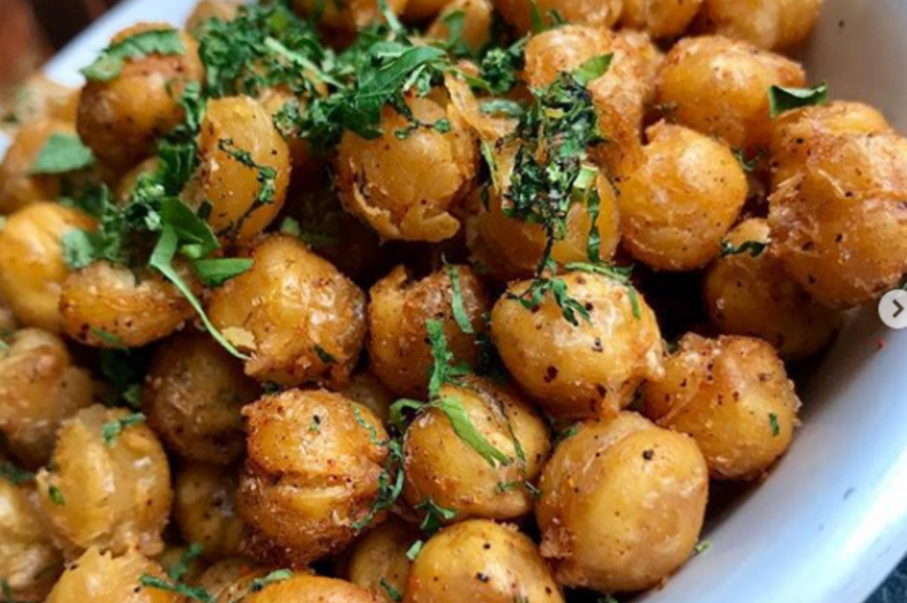 Fried Garbanzo Beans at Spice Monkey Restaurant & Bar