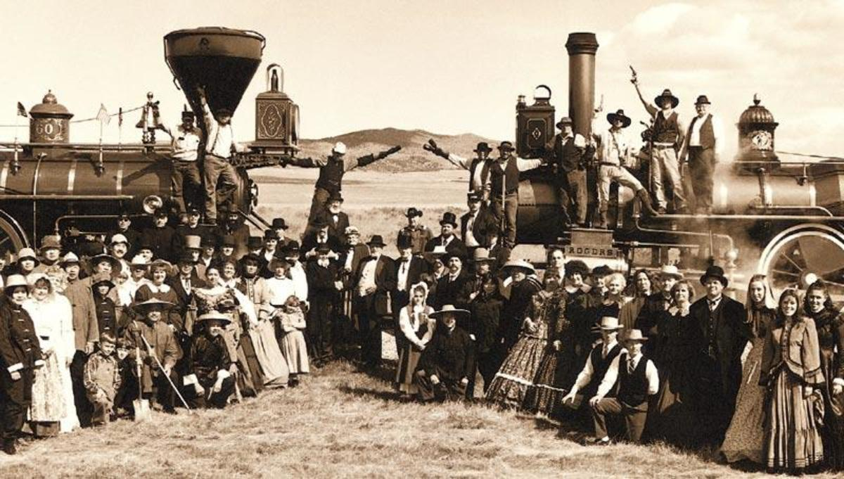 Golden Spike Railroad Ceremony