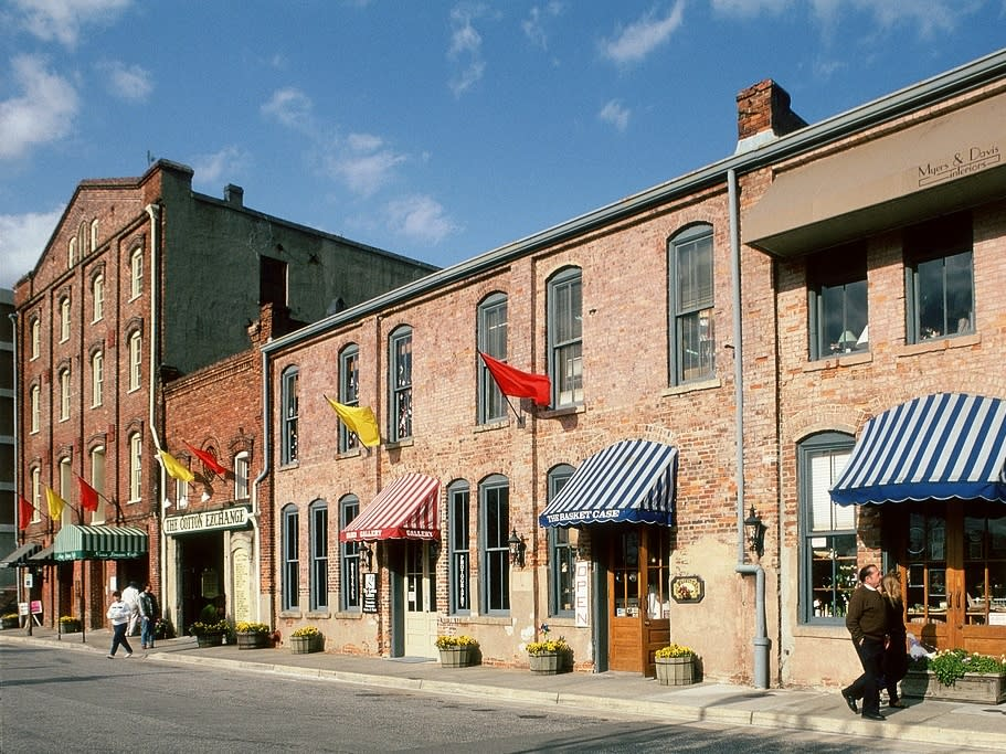 Cotton Exchange in historic downtown Wilmington