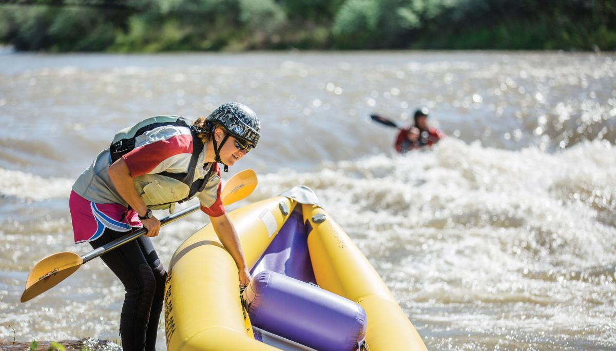 The Animas River in Farmington during the city's River Fest