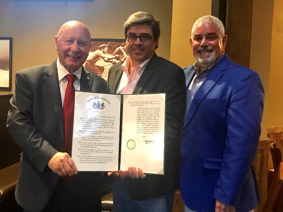 From Left to Right: Senator Mario Scavello, Chris Barrett, Arthur Berry III