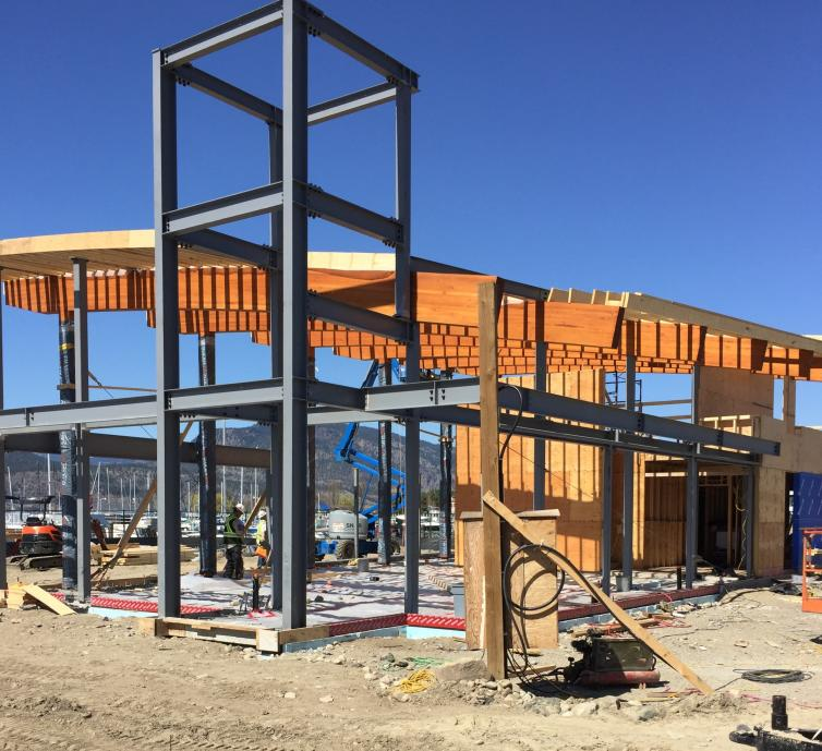 Photo of Visitor Centre Construction